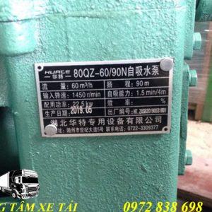 bơm nước 60m3/h xe phun nước