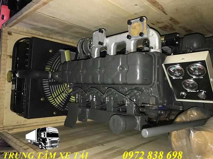 động cơ lai, máy nén khí mooc chở xi măng rời