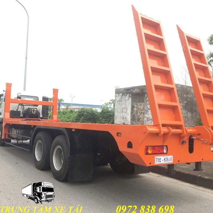 xe chở máy công trình thaco auman c240