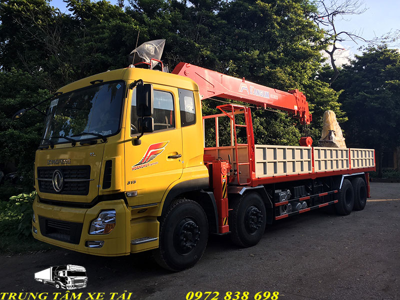 xe dongfeng gắn cẩu 12 tấn kanglim ks2825