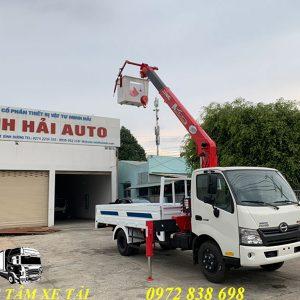 xe tải hino xzu730 gắn cẩu unic 3 tấn