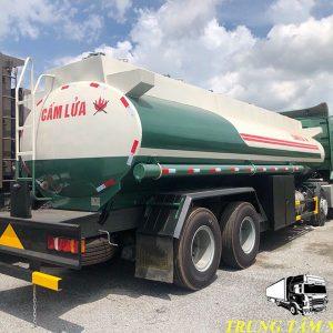 xe bồn chở xăng dầu howo 22 khối