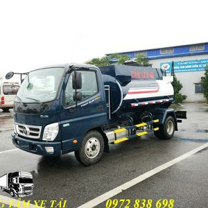 xe bồn chở xăng dầu thaco Ollin 350