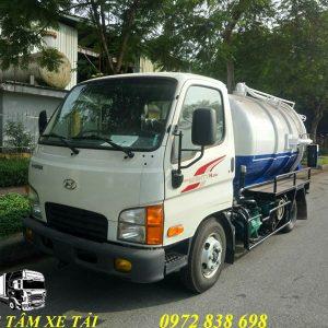 xe hút chất thải 2 khối hyundai n250